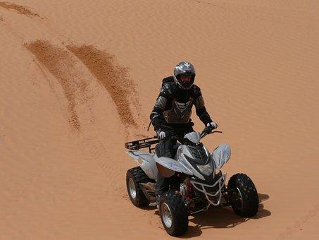 Desert, Quad, Dunes, Dune Ridge, Hot