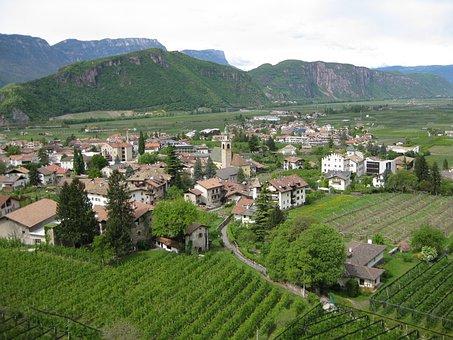 Auer, View, Katzenleiter, South Tyrol, Path, Italy