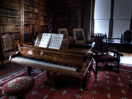 Piano, Room, Old, Architecture, Aged, Wooden, Wood