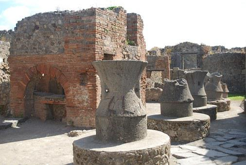 Pompeii, Kitchen, Ancient, Italy, Europe, Ruins