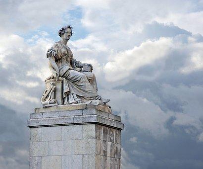 Abundantia, Monument, Statue, Pont Du Carrousel, Paris