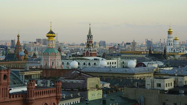 Moscow, Russia, Center, Roof, The Kremlin