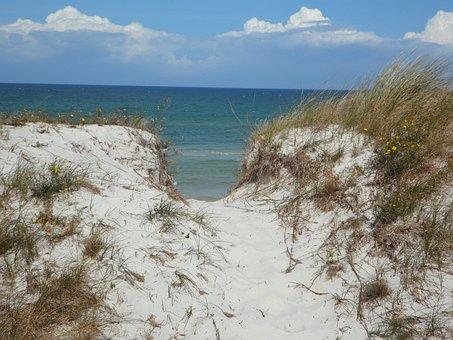 Dune, Sand, Sea, Dune Ridge, Path, White Sand, Beach