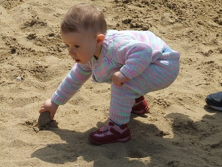 Child, Small, Play, Baby, Sandbox, Out
