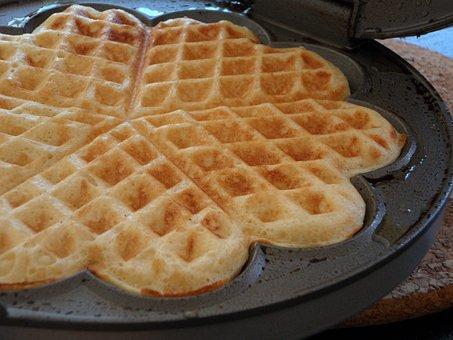 Waffle, Waffle Irons, Waffle Bake, Bake, Heart Shaped