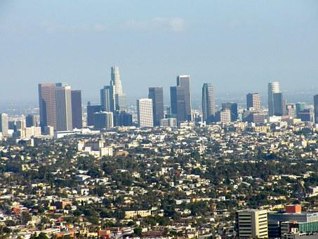 Los Angeles, City, California, Skyline, Cityscape