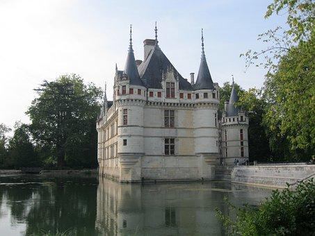 Castle, Architecture, Azay-le-rideau, Loire