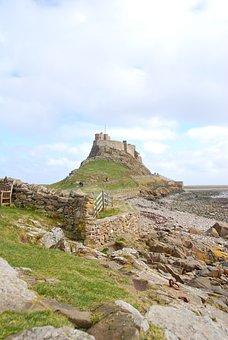 Lindisfarne, Castle, Northumberland, Holy, Island