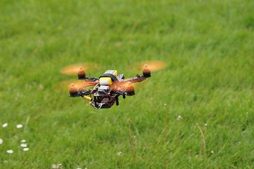 Drone, Field, Multicopter