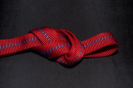 Eighth Node, Knot, Red, Hose Band, Knotted