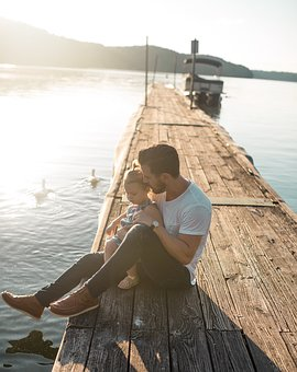 Boat, Child, Jetty, Lake, Leisure, Man, Outdoors
