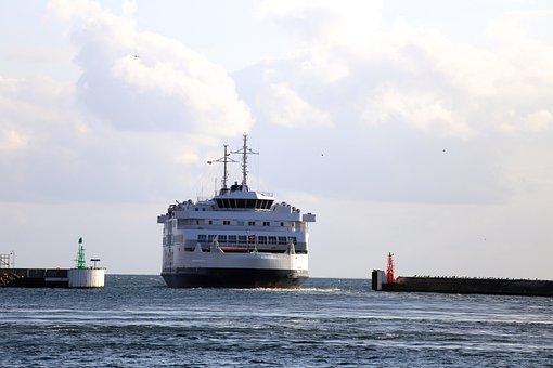 Helsingborg, Port, Boat, Water
