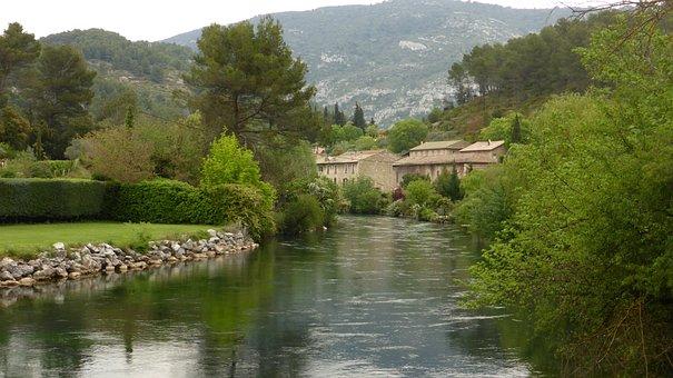 Provence, Light, Color, Landscape, Fontaine De Vaucluse