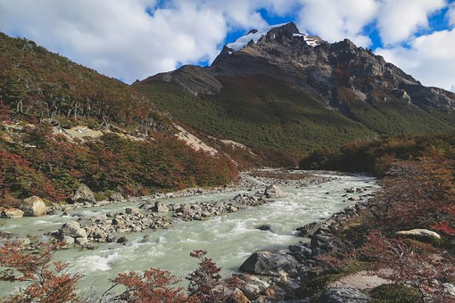 River, Stream, Water, Rocks, Mountains, Hills, Valleys
