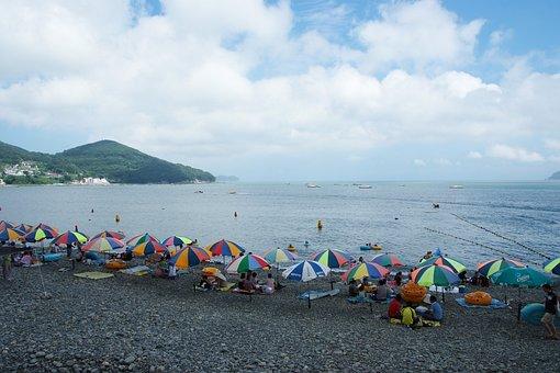 Sea, Korea, Tongyoung, Travel, Ocean, Coast