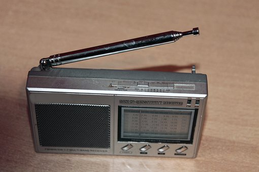 Transistor Radio, Radio, Retro, Silver