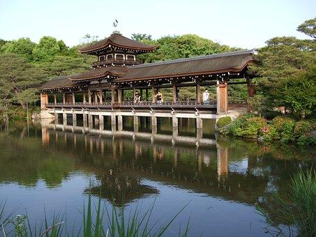 Japan, Kyoto, Garden, Heian, Sanctuary, Temple