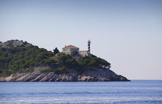 Lighthouse, Croatia, Sestrice, Sailing, Adriatic Sea