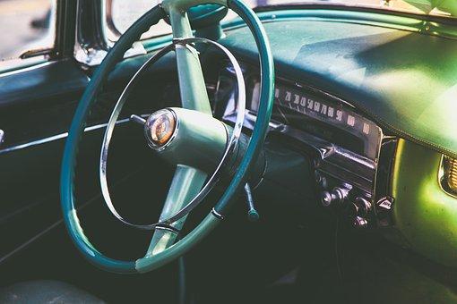 Automotive, Car, Chrome, Classic, Cockpit, Convertible
