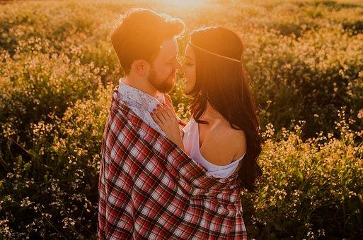 Affection, Beard, Beautiful Flowers, Boy, Brown Hair