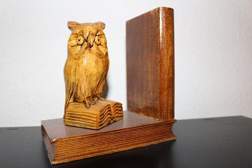 Buchstütze, Books Owl, Book, Read, Owl, Books