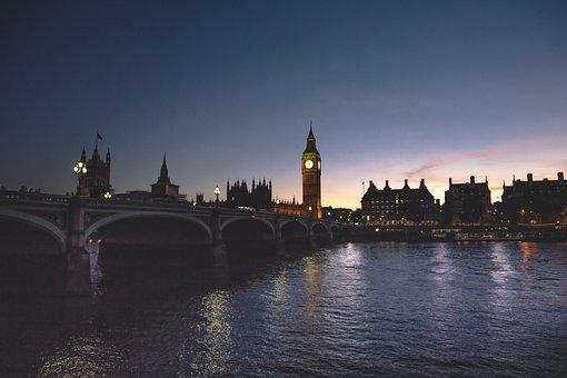 Architecture, Big Ben, Bridge, Buildings, City