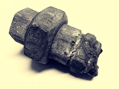 Piece Of Pipe, Broken, Rust, Iron, Rusted, Metal