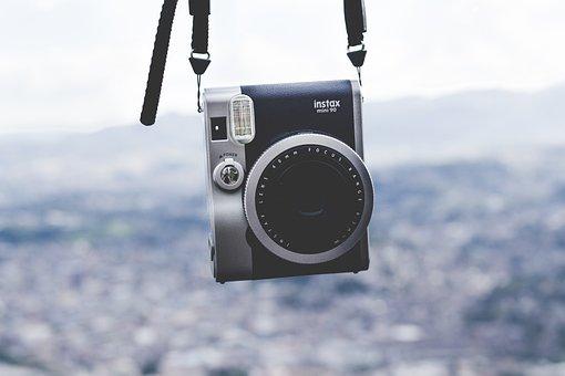 Camera, Equipment, Hanging, Instax Mini 90, Lens