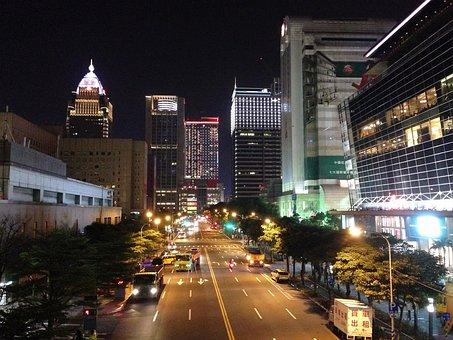 Taiwan, Taipei, Street View, City View