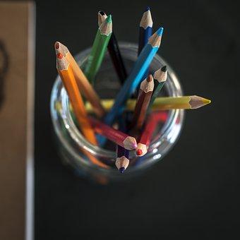 Close-up, Color Pencils, Colour Pencils, Square Format