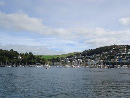 Dartmouth, Devon, River, England, Kingswear, Coast, Uk