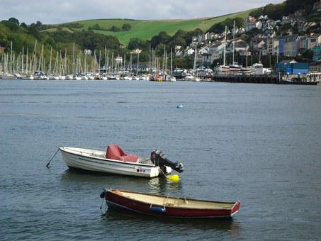 Dartmouth, River, Boats, Devon, Landscape, Scenery