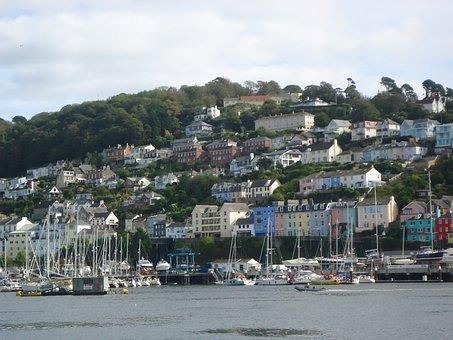 Dartmouth, Devon, Boats, Seaside, Sea, River, Kingswear