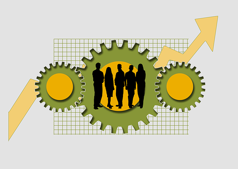 Businessmen, Team, Economy, Community, Arrow, Success