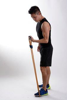 Boy, Elastic Rope, Exercise, Exercise Equipment