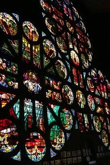 Vitral, Mosaico, Catedral, Font Font Glass Font Font