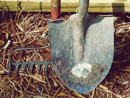 Dirt, Farm, Garden, Hand Tools, Handle, Labor, Metal
