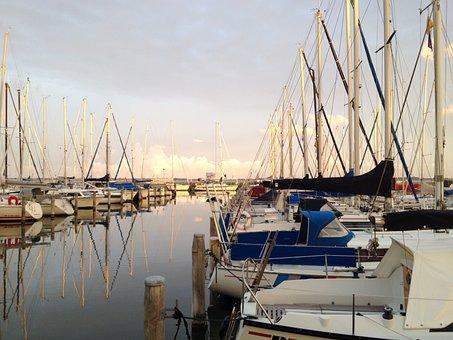 Harbour, Herkingen, Grevelingen, Holland, Sailboat