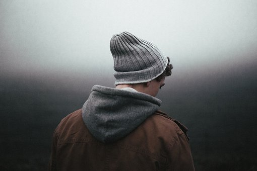 Back, Back View, Beanie, Bonnet, Boy, Jacket, Male, Man