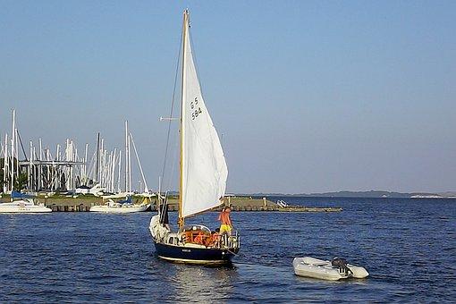 Sailing Boat, Rügen, Lauterbach, Port, Sail, Lake