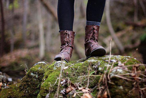 Boots, Girl, Hiking, Leather Boots, Feet, Legs, Shoes