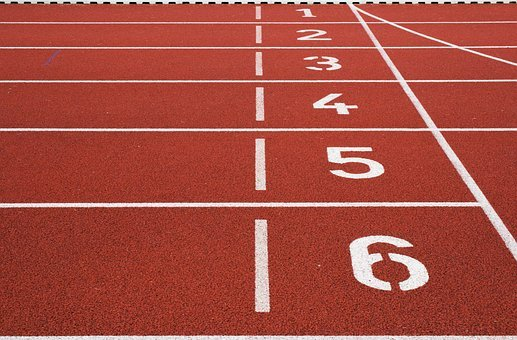 Athletic Field, Ground, Lane, Lines, Numbers