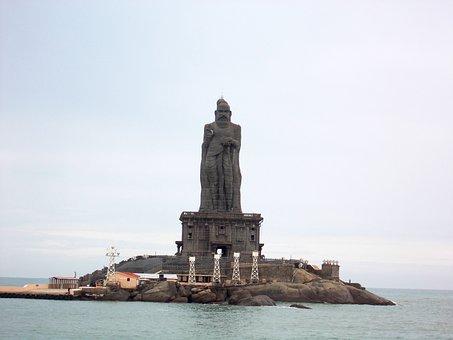 Thiruvalluvar Statue, Rock, Sculpture, Kanyakumari