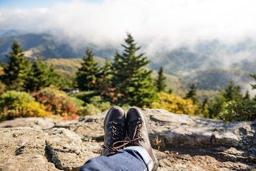 Adventure, Boots, Conifers, Denim Pants, Fir Trees