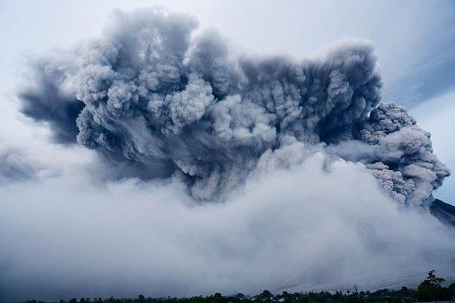 Ash Cloud, Dramatic, Geologic Activity