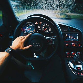 Audi, Automotive, Car, Dashboard, Drive, Hand, Odometer
