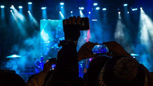 Audience, Band, Blur, Celebration, Cellphone, Club