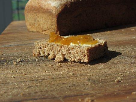 Bread, Jam, Close Up, Jam Sandwich