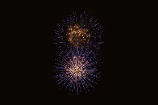 Bright, Colorful, Dark, Evening, Explosion, Festival