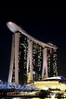 Singapore, Marina Bay, Night View, Modern, Building